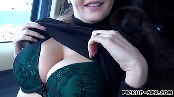 Busty real amateur jiggles her pussy