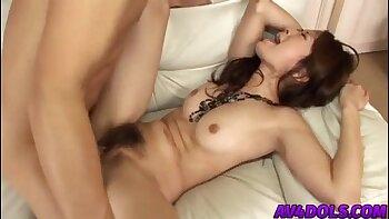 Inked asian babe Katya Pearl turns blowjob into a pussy fuck