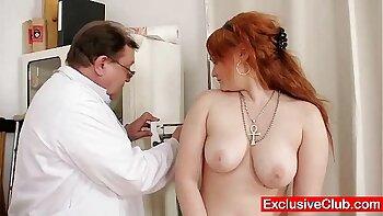 Redhead nurse Bethany Lee wants to fuck a leopard