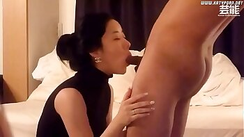 Beautiful cutie Emily fucking korean bitch while riding dick