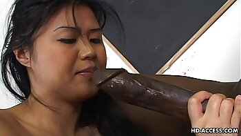 Angered Asian Monster Black Cock Gets Fucked Deep
