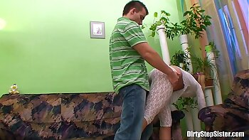 Cute Angelina Brea fucks her guy with anal stepsister
