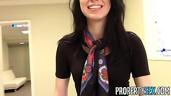 Lewd Brunette Home Office Sex