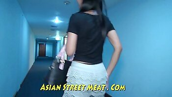 Busty thai chick sucking and fucking a big dick