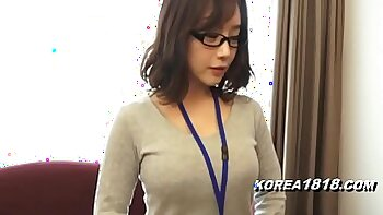 Buxom Asian chick impaled in a korean doggy position