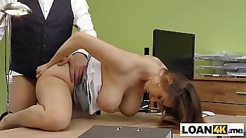 Busty and sexy Ariadne Zima giving blowjob for her husband