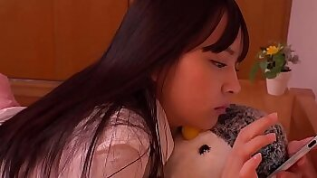 Japanese teens with small tits welcome a cigarette