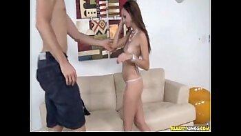 Latina Adriana Rose long nipple exercise
