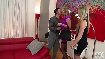 Threesome with Lucas at my birthday sex party