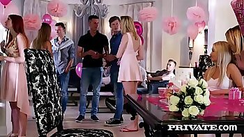 Alexis Crystal teases in orgy with guys