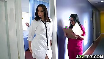 Hot nurse takes in bbc threesome