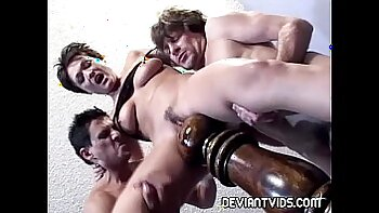 Black guys fuck women in extreme threesome