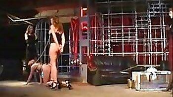 Amazing super slave femdom dominates whore