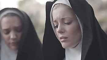 Two sinful nuns are licking each pussies for the first time