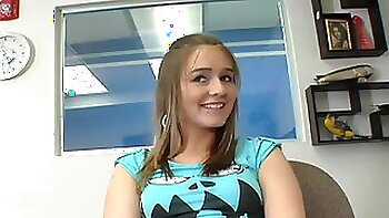 Pretty Jayden Moore gets fucked in different poses at the interview